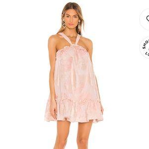 NBD Revolve Merie Mini Dress in Nude Pink